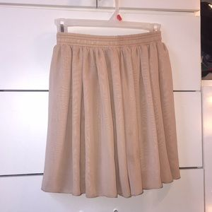 Tan American Apparel Circle Skirt
